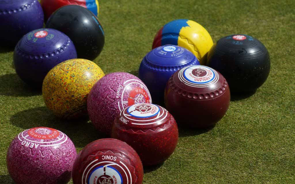 Bowls Wales, close up bowls, Bowls